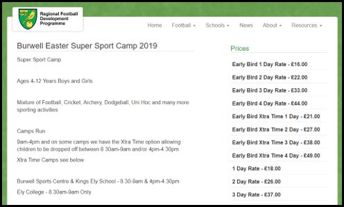 Norwich City Community Sports Foundation Registration Page